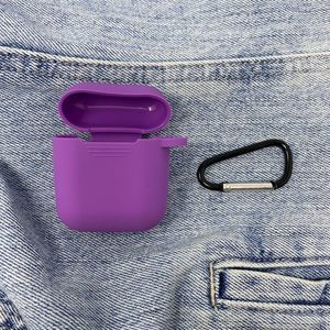 Solid Purple Airpods Case w/ Key Ring